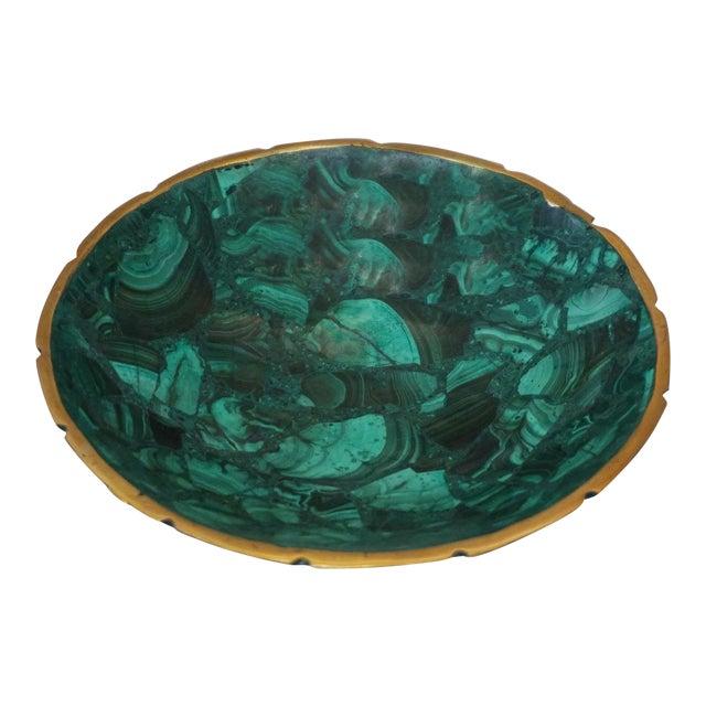 Small Malachite Bowl For Sale