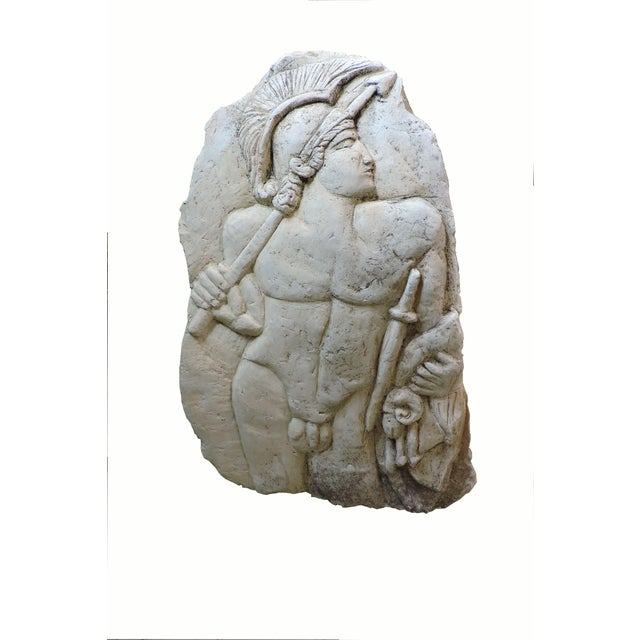 Bas Relief Carving of a Roman Soldier For Sale In San Francisco - Image 6 of 6