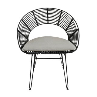 Sura Outdoor Black Dining Chair For Sale