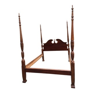 Mahogany Queen Four Poster Rice Bedframe For Sale