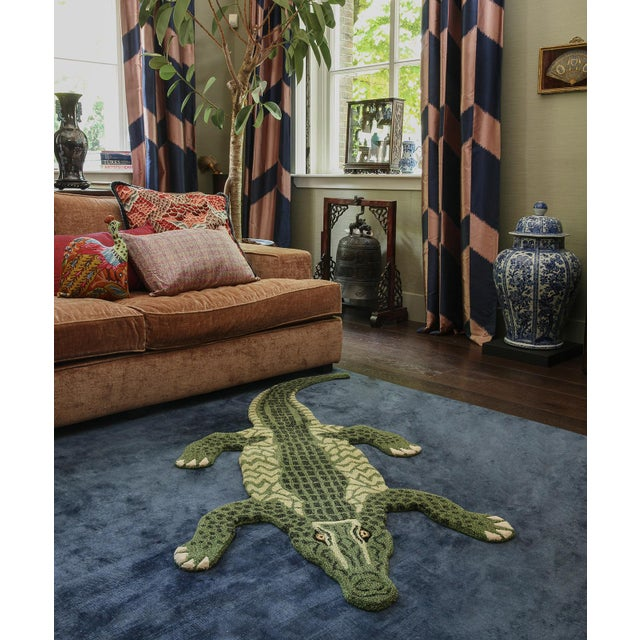 Doing Goods Coolio Crocodile Rug Large For Sale - Image 4 of 6