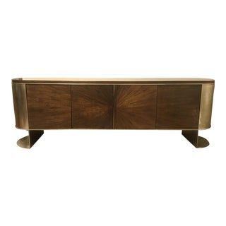 Mid-Century Modern Style Caracole Prime Time Entertainment Cabinet For Sale