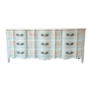 1970s John Widdicomb French Provincial Louis XV Style Triple Dresser For Sale