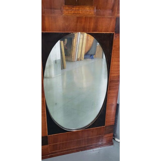 Biedermeier Early 19th Century Walnut & Mahogany Biedermeier Mirror C.1830s For Sale - Image 3 of 9