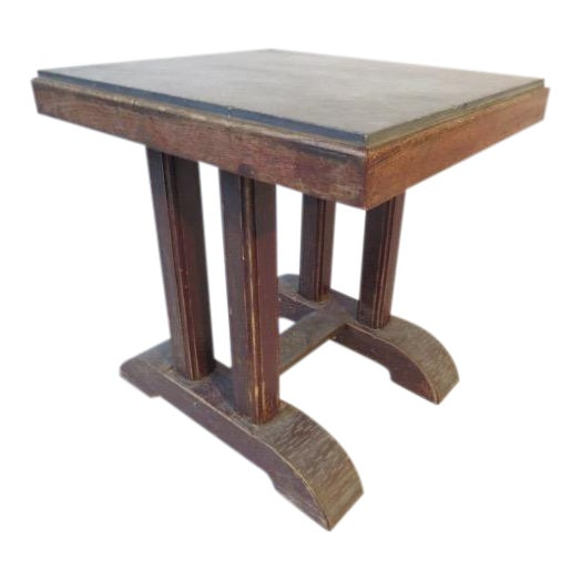 Vintage Marble Top Side Table For Sale