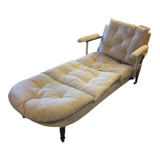 19th Century French Napoleon lll Chaise Lounge For Sale
