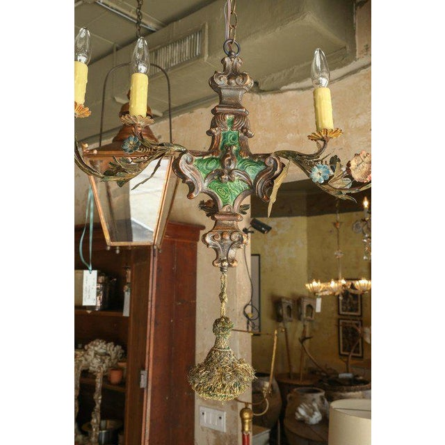 Small Painted Italian Chandelier - Image 3 of 7