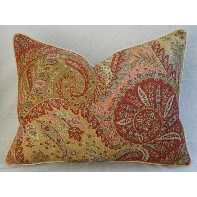 Designer Brunschwig & Fils Paisley Pillows - Pair - Image 9 of 9