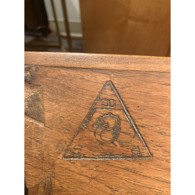 Antique Wooden Box With Handles For Sale - Image 10 of 13