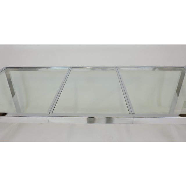 DIA - Design Institute America Design Institute America Dia Mid-Century Modern Extendable Chrome Dining Table For Sale - Image 4 of 11
