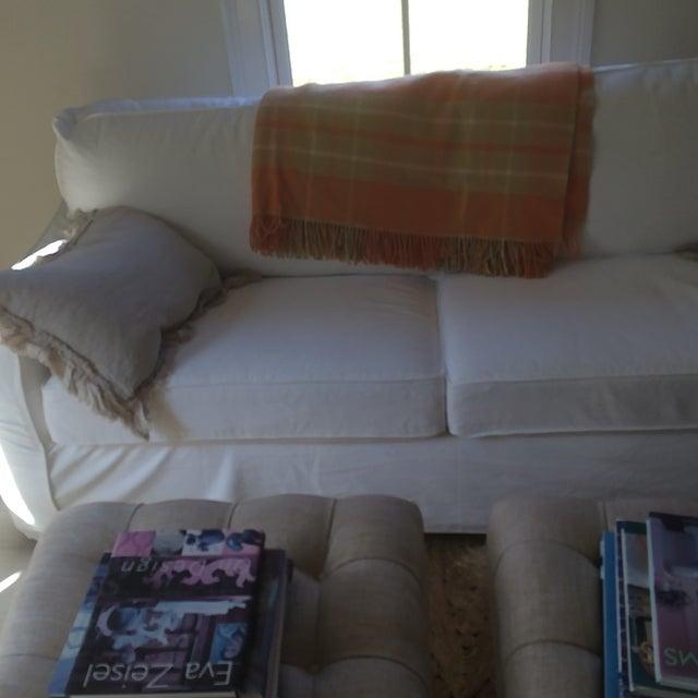 Orange Wool Blanket from London - Image 6 of 8