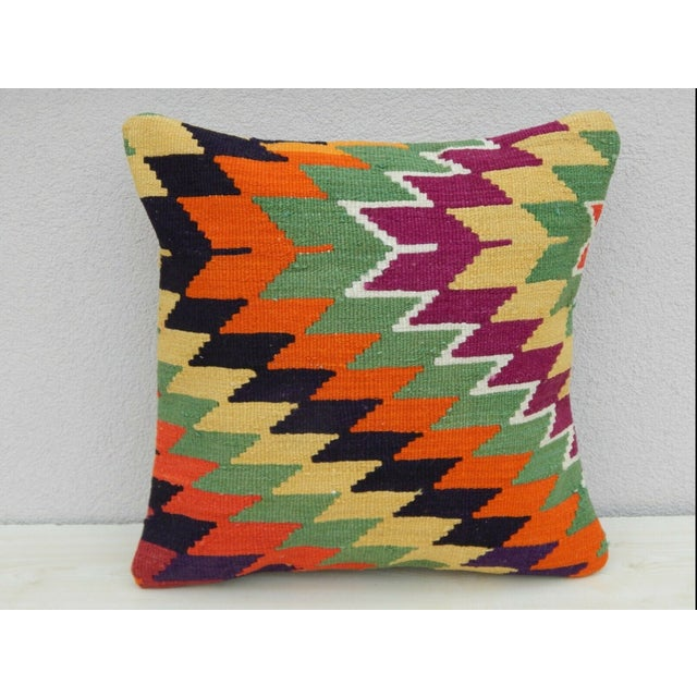 Turkish Handmade Kilim Pillow For Sale In Dallas - Image 6 of 6