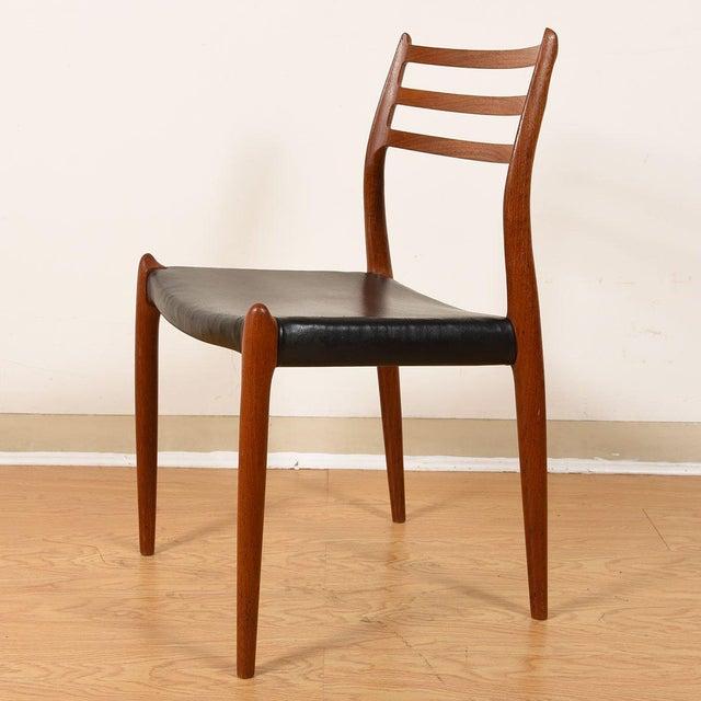 Black Møller Danish Modern Teak Dining Chairs- Set of 4 For Sale - Image 8 of 10