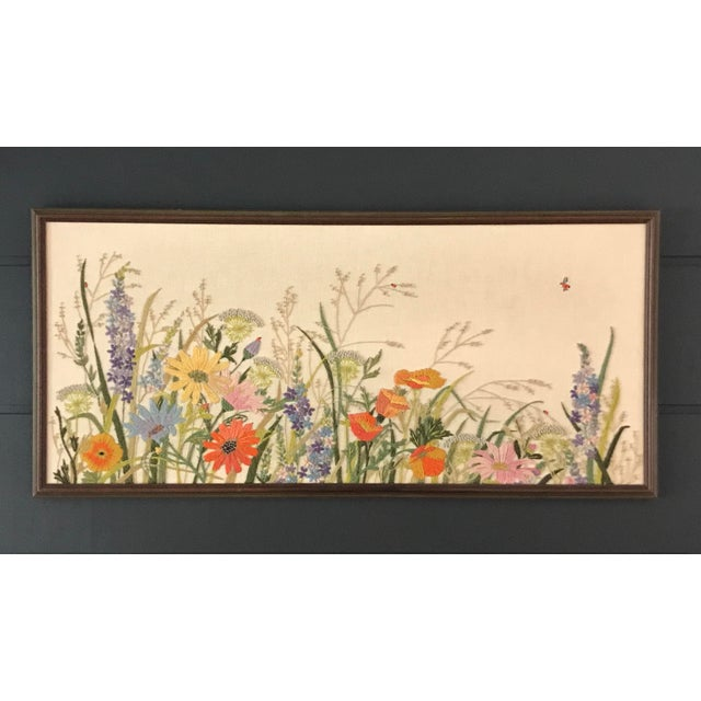 Embroidered Floral Artwork - Image 5 of 5