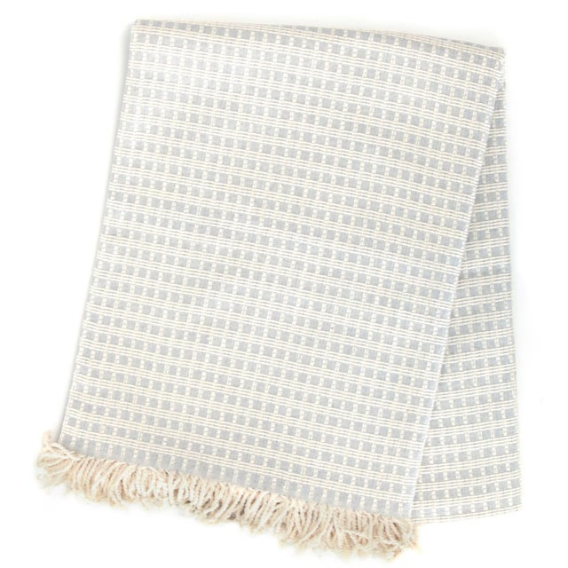 Structured Cotton Throw | Pointell For Sale - Image 4 of 4