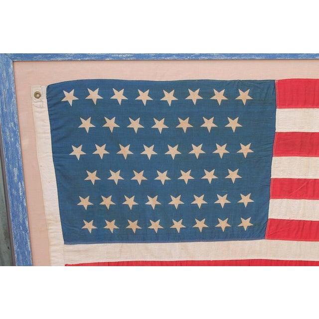 Monumental 46 Star Framed American Flag from 1909 - Image 3 of 6