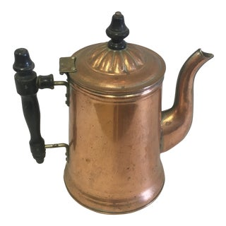 Vintage Copper Coffee Pot For Sale