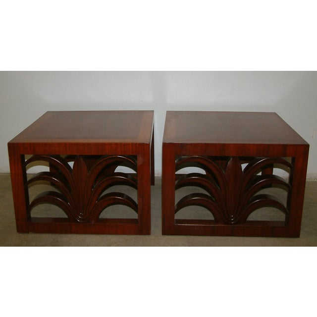 Mid-Century Modern Circa 1950 United States Custom T. H. Robsjohn Gibbings End Tables - Pair For Sale - Image 3 of 7