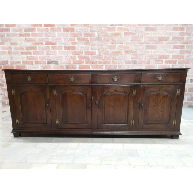 Early 20th C. French Country Oak Sideboard Credenza Buffet Server For Sale - Image 13 of 13