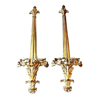 Gilt Wall Decorative Mounts - A Pair For Sale