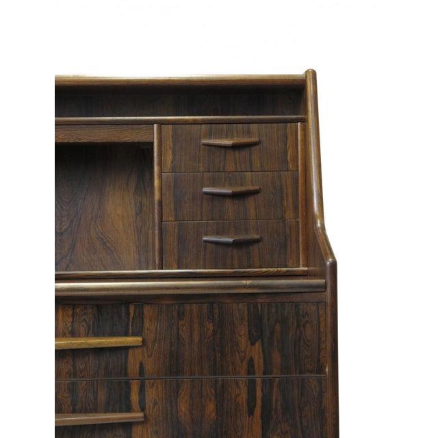 Red Scandinavian Modern Rosewood Secretary Desk For Sale - Image 8 of 9