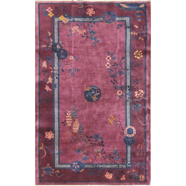 Antique Art Deco Chinese Rug For Sale - Image 11 of 11