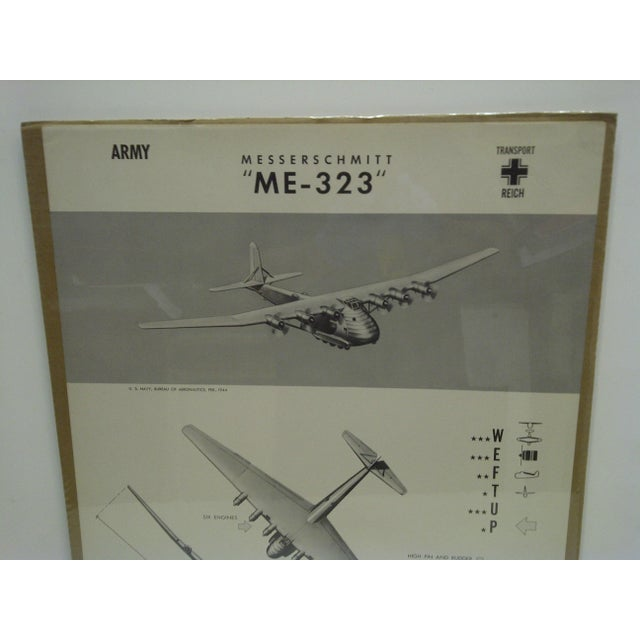 Americana Circa 1944 WWIIAircraft Recognition Poster Messerschmitt Me 323 German For Sale - Image 3 of 4
