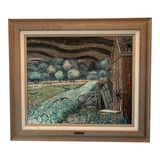 "1950s James Apostle ""Tobacco Road"" Painting For Sale"