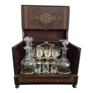 French Cavé à Liqueur - Decanters and Stemware For Sale