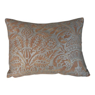 Brown & Silvery Gold Fortuny Pillow