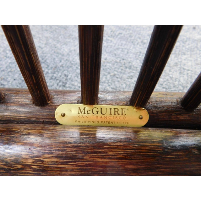 Vintage McGuire Rattan Benches - Pair - Image 4 of 10