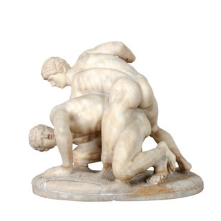 19th Century the Wrestlers Marble Sculpture For Sale