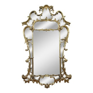 Large George III Giltwood Mirror For Sale