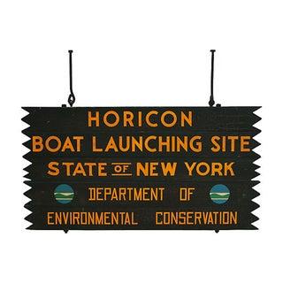 Adirondack Boat Launching Sign
