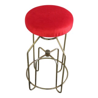 Art Deco Brass Stool For Sale