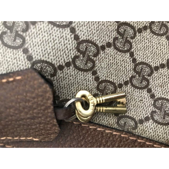 Mid 20th Century Huge Vintage Gucci Monogram Duffel Bag For Sale - Image 5 of 12