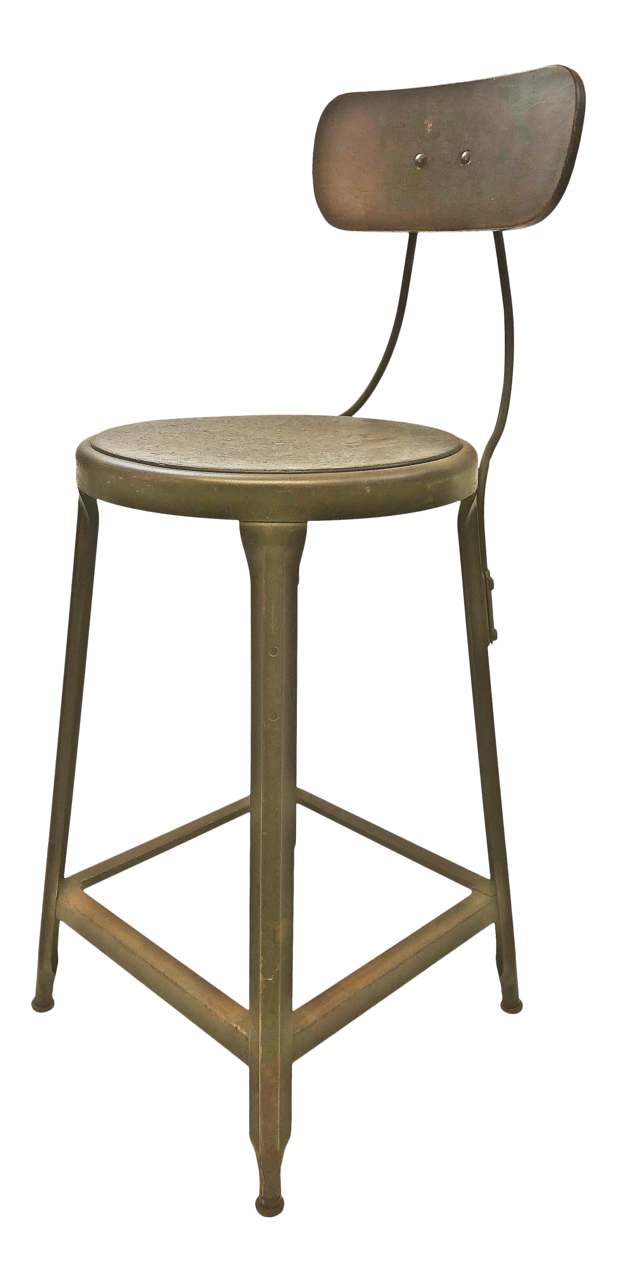 Peachy Vintage Industrial Gray Metal Drafting Stool By Hallowell Machost Co Dining Chair Design Ideas Machostcouk