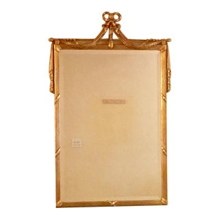 Louis XVI Style Beveled Giltwood Mirror Must Sell!!! For Sale
