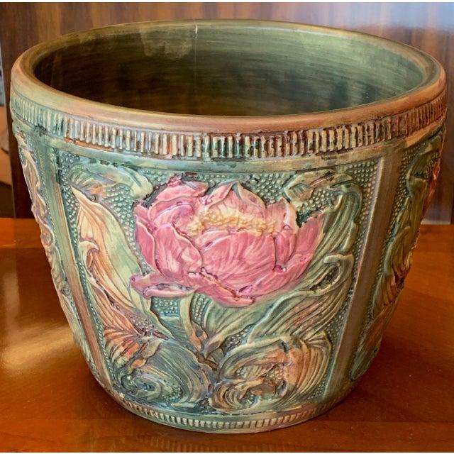 1910s Weller Flemish Ceramic Cachepot For Sale - Image 5 of 9
