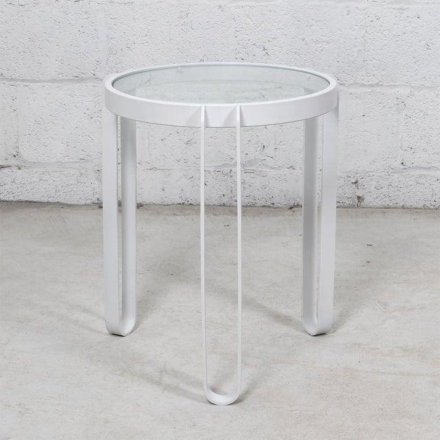 White Enamel Side Table - Image 4 of 4