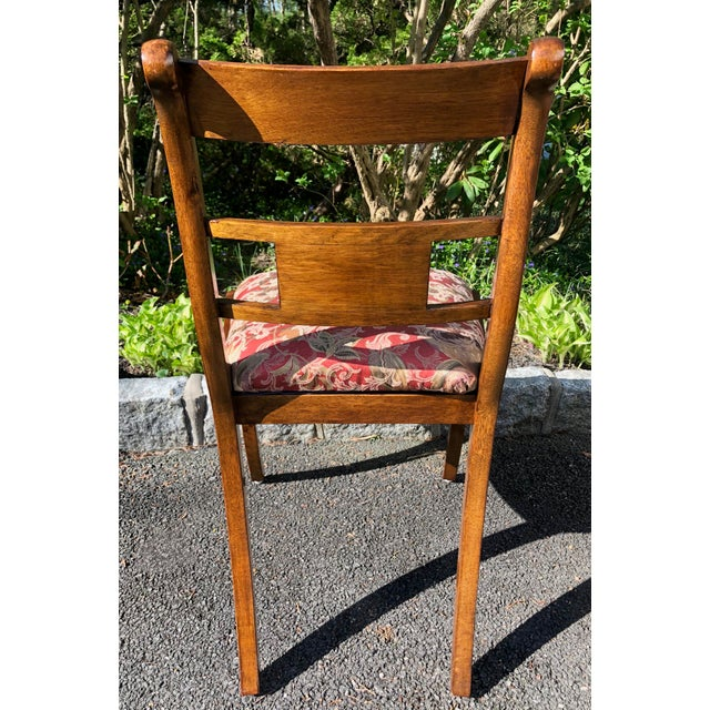1920s Vintage English Regency Style Brass Inlaid Dining Chairs- Set of 4 For Sale - Image 9 of 13