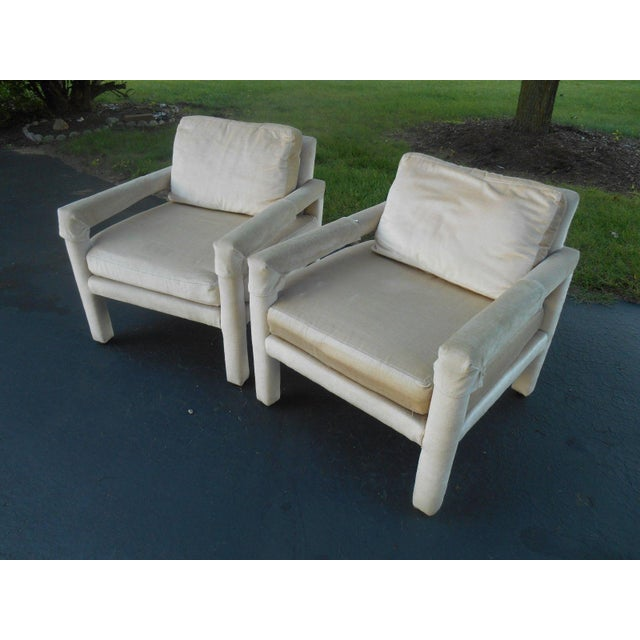 Drexel Parsons Style Club Chairs - A Pair - Image 3 of 7