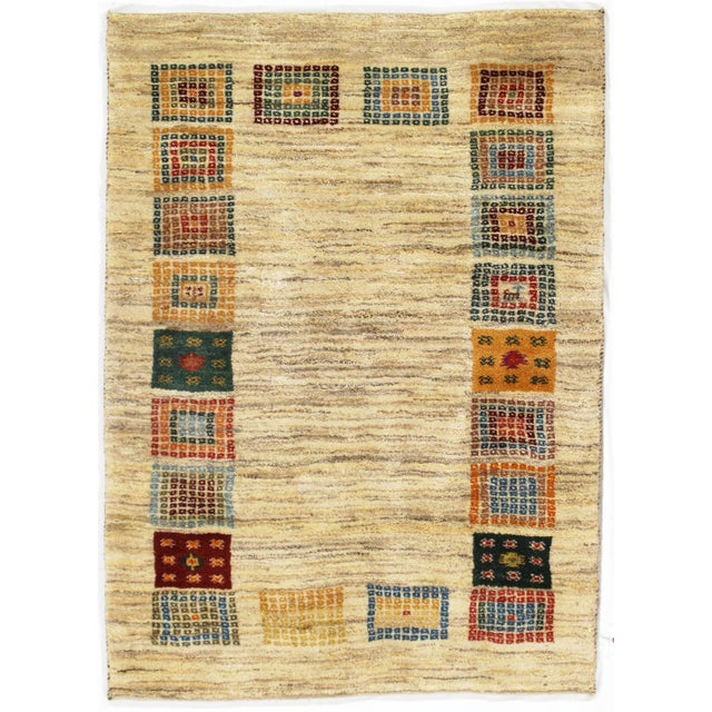 """2010s Pasargad NY Persian Gabbeh Rug - 3′4″ × 4′7"""" For Sale - Image 5 of 5"""