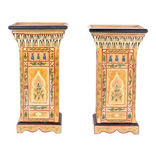 Painted Moroccan Stands - A Pair For Sale