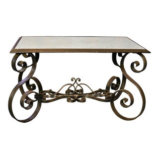 French Iron Coffee Table For Sale
