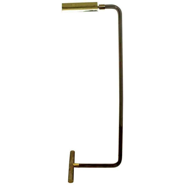 Brass Mid Century Modern Peter Hamburger Kovacs Crylicord Lucite Brass Floor Lamp 70s For Sale - Image 8 of 8