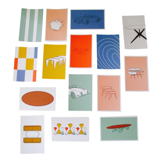 Mid-Century Modern Chair Postcards & Other Iconic Products - Set of 15 - Image 1 of 10
