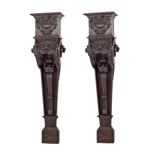 Italian Baroque Corbels - A Pair For Sale