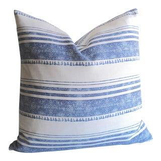 Tassel Print Linen Pillow