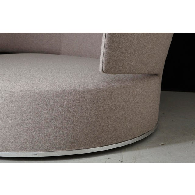 2000 - 2009 Amoenus - Circular Swivel Sofa by Antonio Citterio for B & B Italia, New Upholstery For Sale - Image 5 of 13